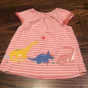 Baby Boden Dinosaur Top - Size 6-12 months